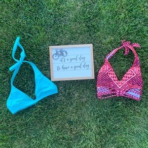 Bundle of two swim tops Roxy and Kennith Cole.